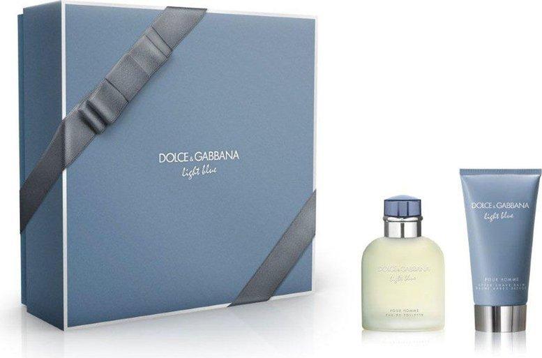 Dolce  Gabbana Light Blue Pour Homme Edt 75ml + 75ml Aftershave Balm 75ml Vīriešu Smaržas
