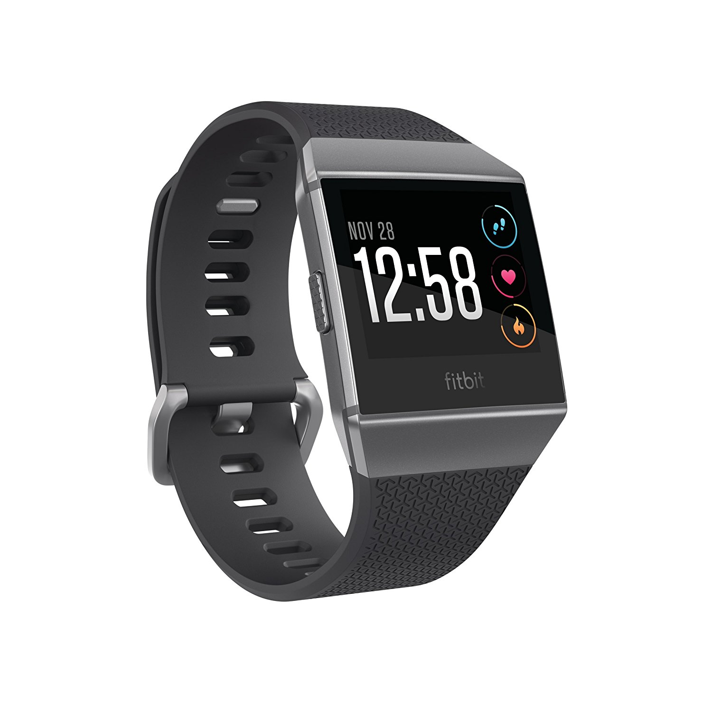 FitBit Ionic - Bluetooth NFC - dark grey/graphite Viedais pulkstenis, smartwatch
