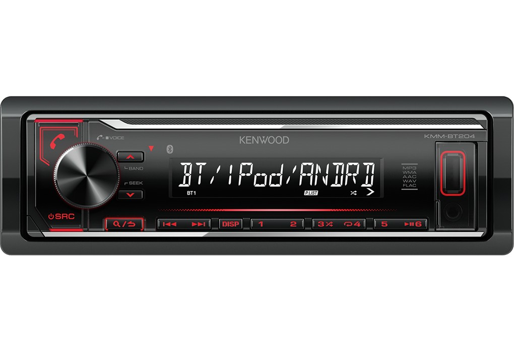 Kenwood KMM-BT204 - Car - Digital Receiver - Dashboard - Full DIN - 50 Watt x 4 automagnetola