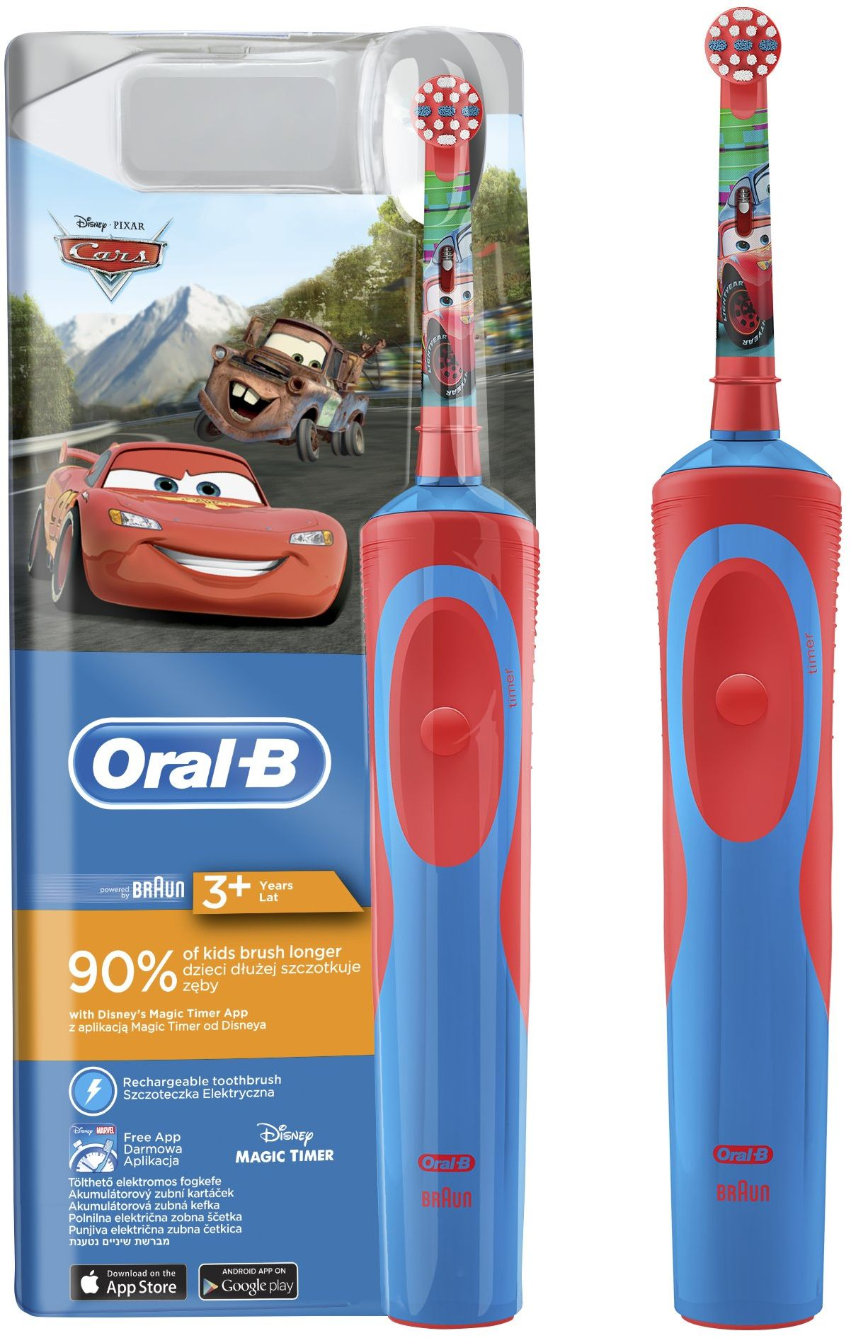 Oral-B EB 10-4 Cars mutes higiēnai