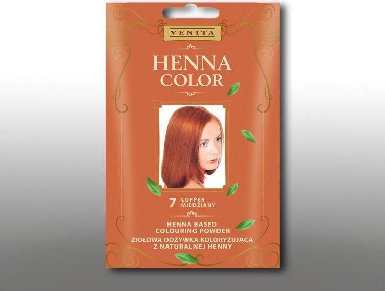 Venita Ziolowa odzywka koloryzujaca Henna Color 30g 7 miedziany V1069
