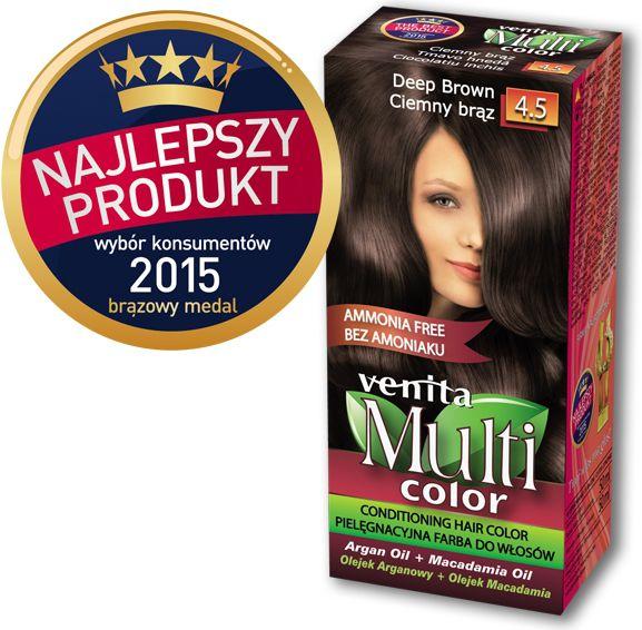 Venita Farba bez amoniaku Multi Color 4.5 ciemny braz V1047