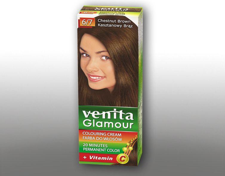 Venita Farba do wlosow GLAMOUR  6/7 kasztanowy braz V1005