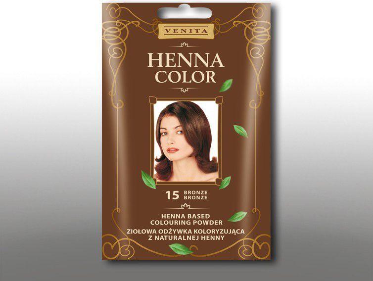 Venita Ziolowa odzywka koloryzujaca Henna Color 30g 15 bronze V1076