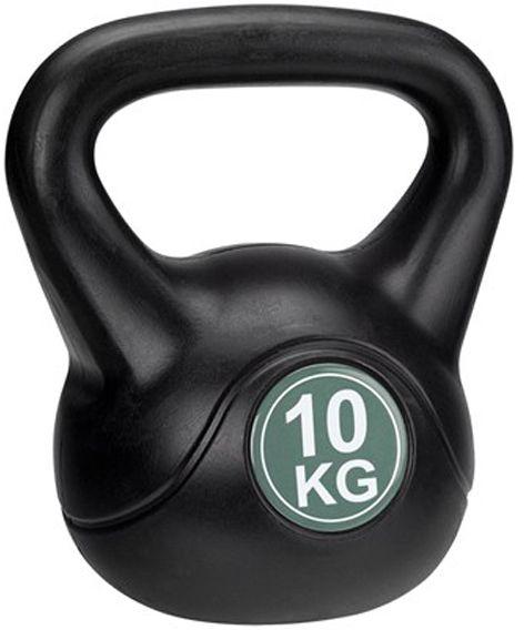 Avento Kettlebell 10 kg czarno-zielony (41KD) 41KD hanteles
