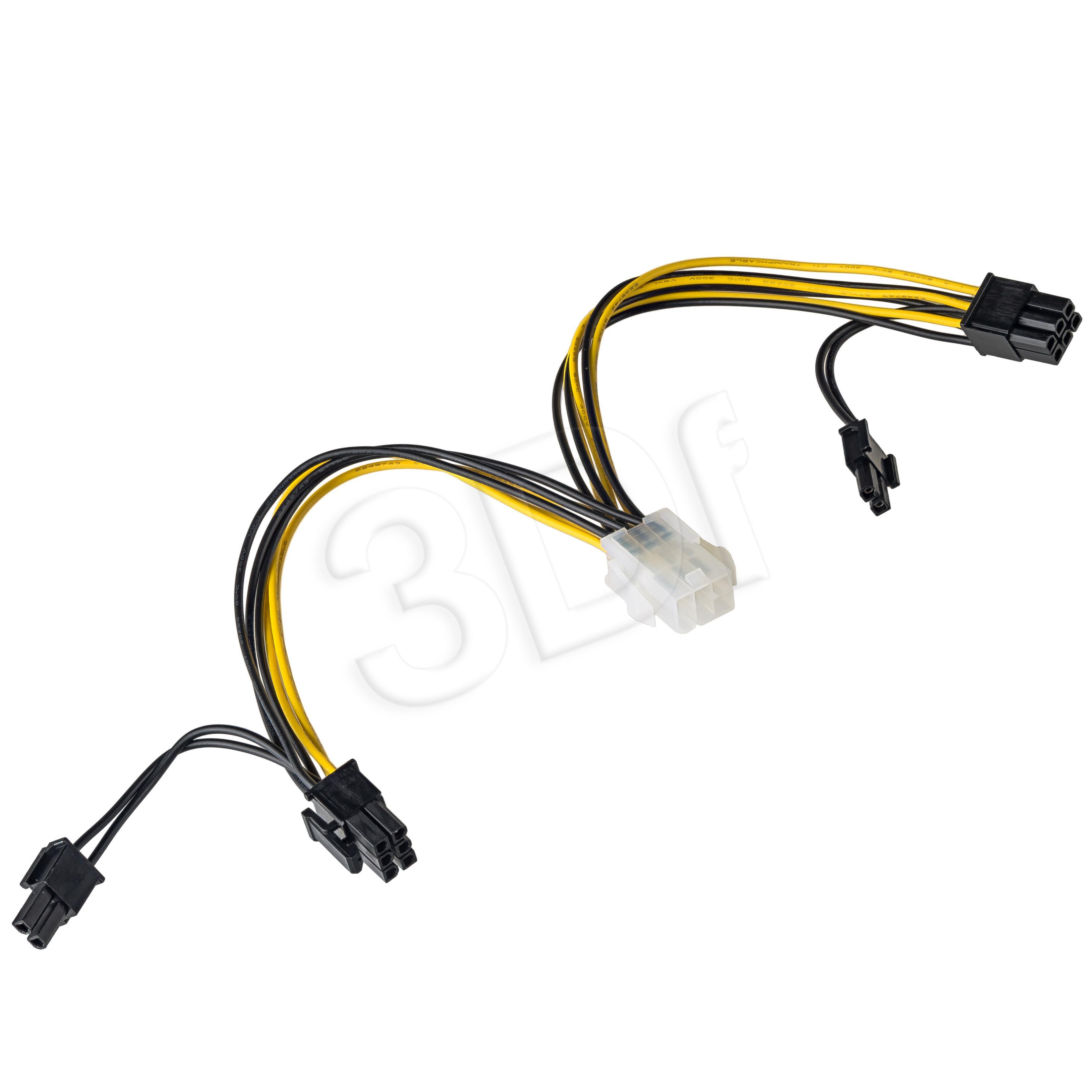 Akyga Adapter PCI Express 6-pin F/ 2x6-2-pin M (AK-CA-55) karte