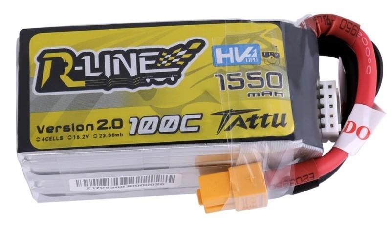 Gens Ace & TATTU 1550mAh 15.2V 100C R-Line Gens Ace HV