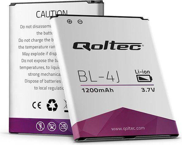 QOLTEC Battery for Nokia C6 Lumia 620 BL-4J | 1200mAh aksesuārs mobilajiem telefoniem
