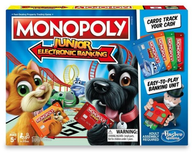Hasbro MONOPOLY Junior Electronic Banking (E1842) (poļu versija) galda spēle