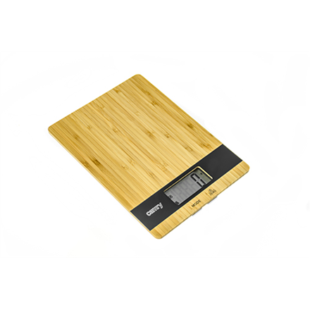 Camry Kitchen scale CR 3154 Maximum weight (capacity) 5 kg, Graduation 1 g, Display type LCD, Light brown virtuves svari