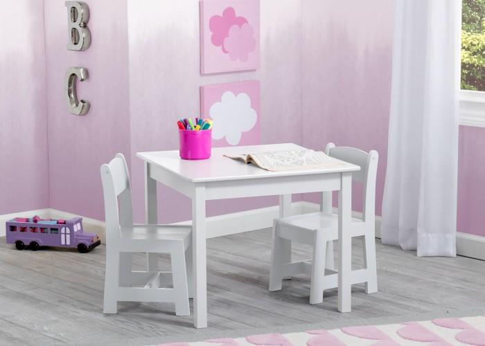 Delta children White koka galds 2 krēsli TT89601GN/130