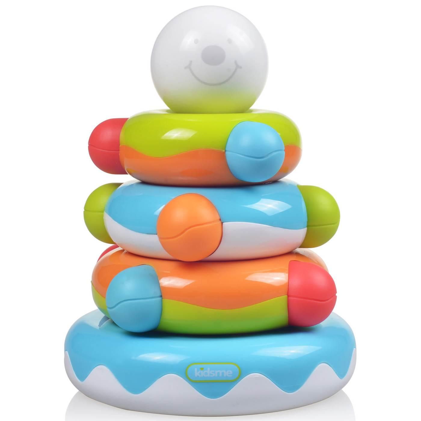 Kidsme Rotaļu piramīda 6m+ 4893014872796 bērnu rotaļlieta