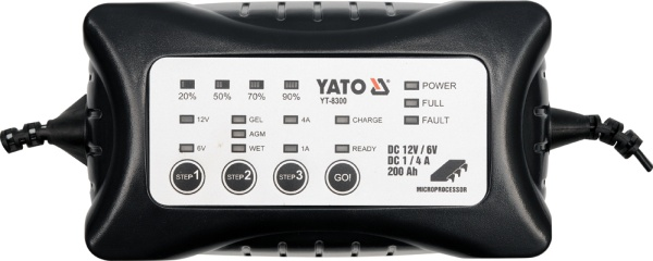 Yato YT-8300 Professional device for charging 6 V and 12 V auto akumulatoru lādētājs
