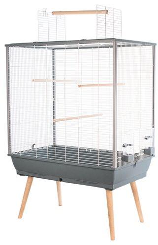 Zolux Klatka dla ptakow Neo Jili H80 szara 1686581