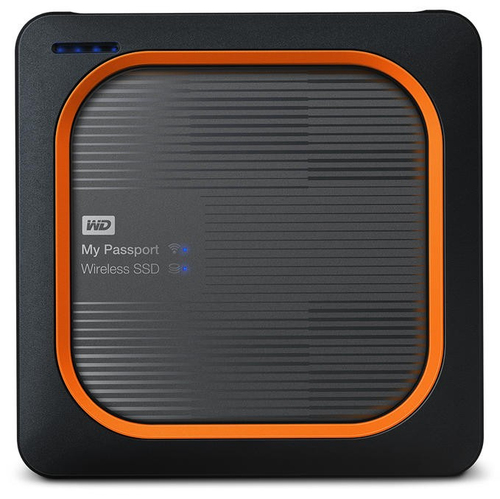WESTERN DIGITAL MY PASSPORT WIRELESS SSD 500GB 2.5IN USB 3.0-WITH SD CARDREADER IN WDBAMJ5000AGY-EESN cietais disks