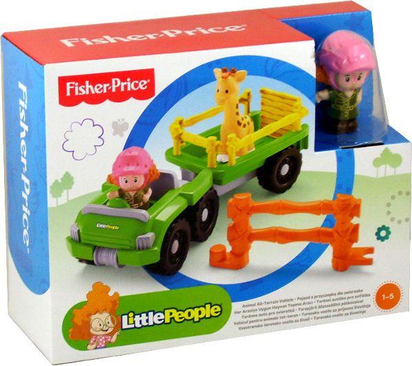Fisher Price Little People Pojazd z przyczepka na zwierzaka BDY72 Radiovadāmā rotaļlieta