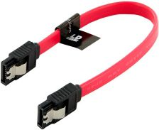 4World HDD Cable | SATA 3 | SATA-SATA | 20cm | Latching | red kabelis datoram