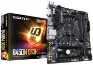 B450M DS3H Motherboard Buchse AM4 AMD B450 micro ATX (B450M DS3H) pamatplate, mātesplate