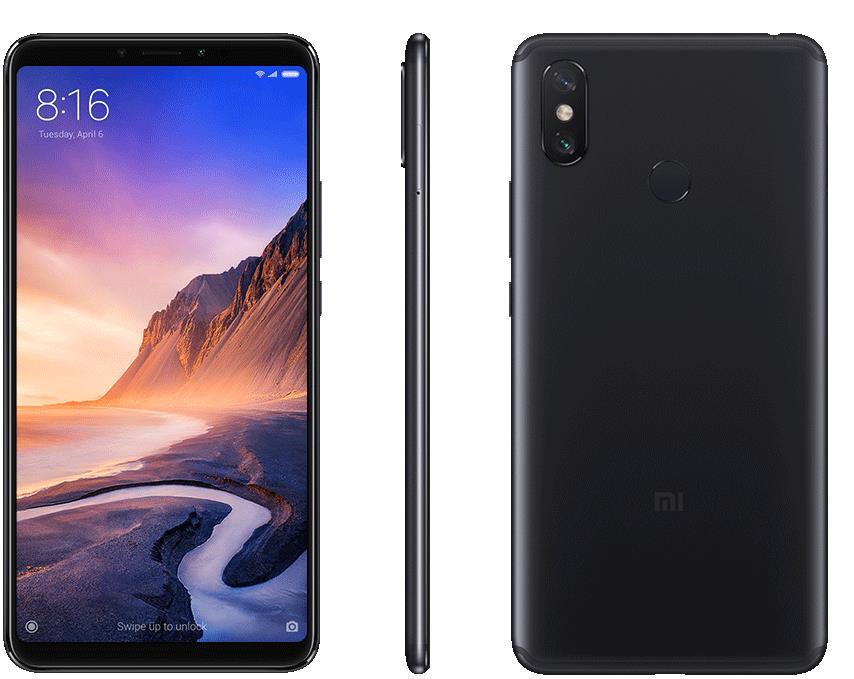 Xiaomi Mi Max 3 - 6.90 - 64GB - Android - black Mobilais Telefons