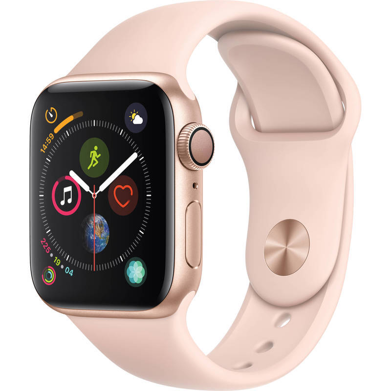 Apple Watch Series 4 GPS 40mm Gold Alu Pink Sport Band Viedais pulkstenis, smartwatch