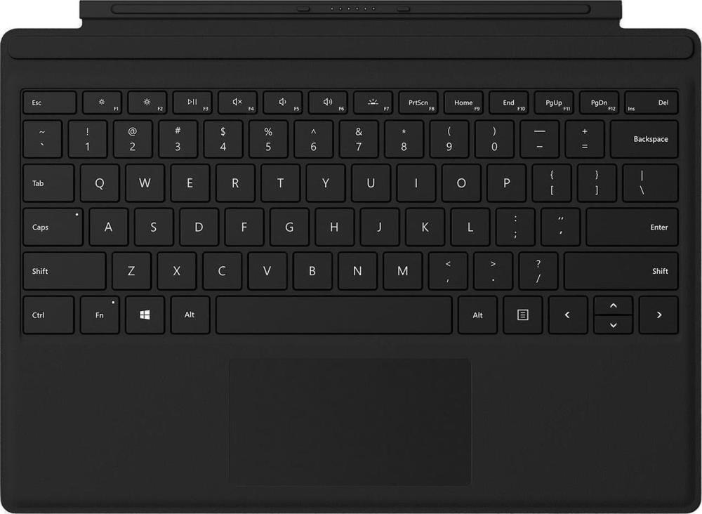 Microsoft Type Cover with Keyboardr for Microsoft Surface Pro 4/5  Black planšetdatora soma