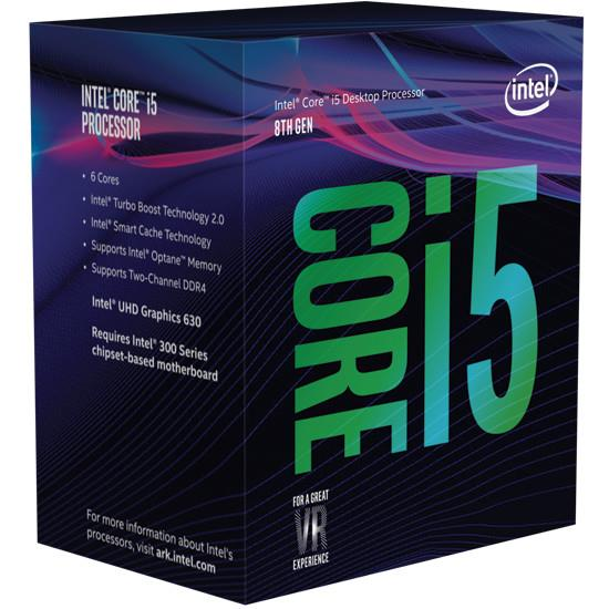 Intel CPU Desktop Core i5-8400 (2.8GHz, 9MB, LGA1151) box CPU, procesors