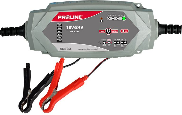 Proline Prostownik konwertorowy do akumulatorow 12 / 24V 7A (46832) 46832 auto akumulatoru lādētājs