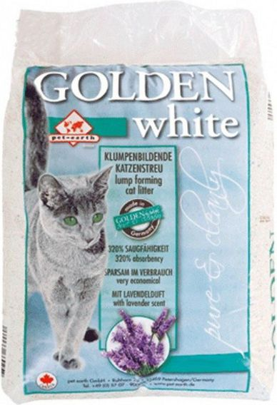 PET EARTH GOLDEN GREY 7kg WHITE piederumi kaķiem