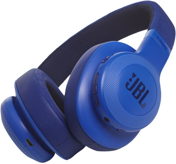JBL E55BT - Headphones with Microphone - Full-Size - Bluetooth - Wireless - Blue austiņas