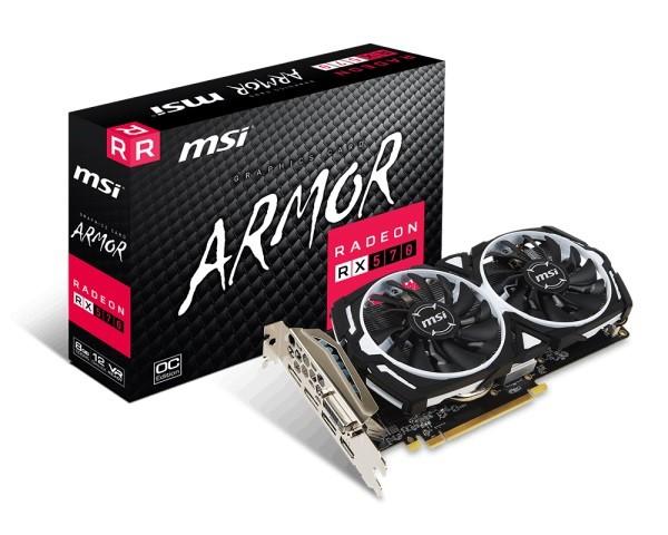 MSI Radeon RX 570 ARMOR 8G OC video karte