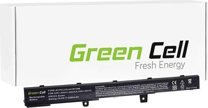 Green Cell A31N1319 A41N1308 Asus X451MAV X551 X551C X551CA X551M X551MA akumulators, baterija portatīvajiem datoriem