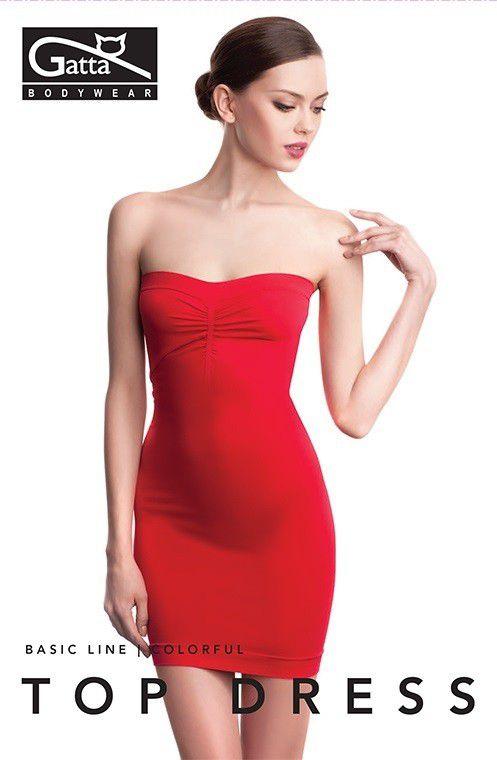 GATTA Sukienka damska Top Dress  9S CALM RED r. L (0046579S42829) 0046579S42829 Kleitas sievietēm