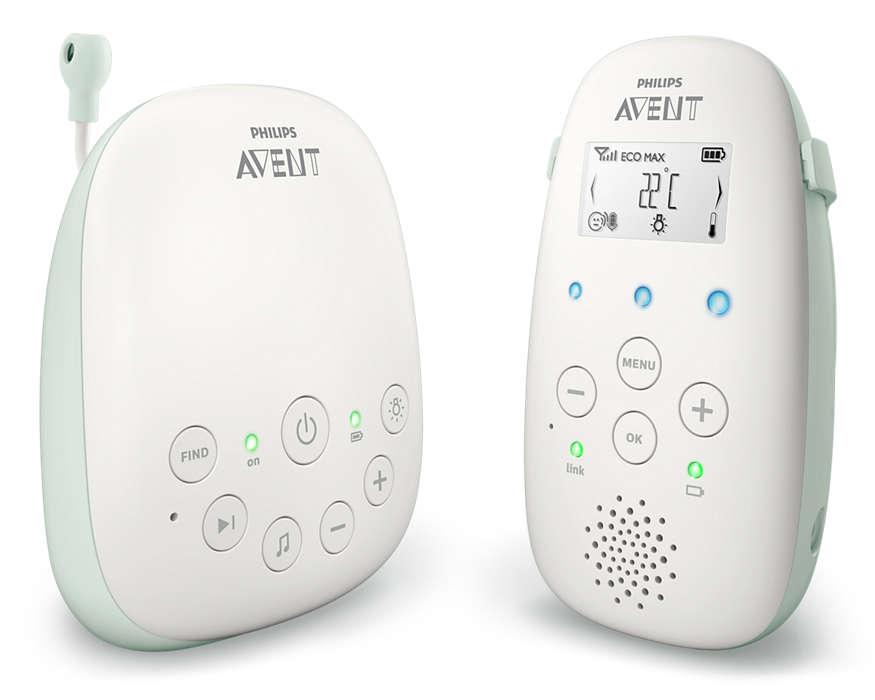 Jaunums! Philips Avent DECT mazuļa uzraudzības ierīce SCD711/52 Mazuļu uzraudzība