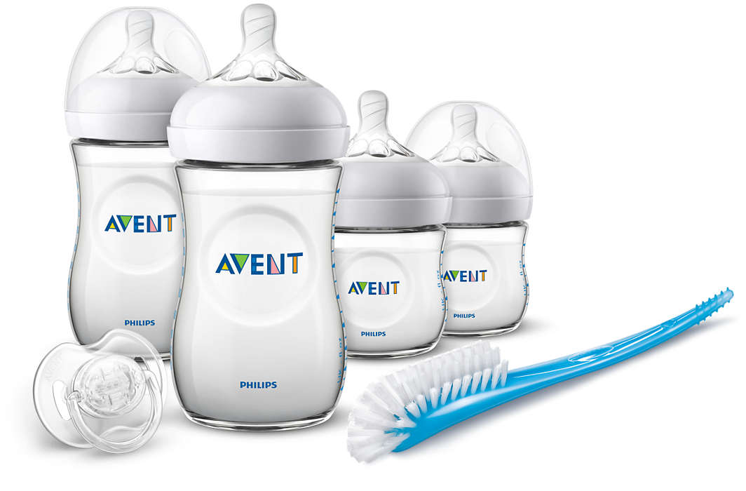 Jaunums! Philips Avent Natural jaundzimušā sākuma komplekts SCD301/01 bērnu barošanas pudelīte