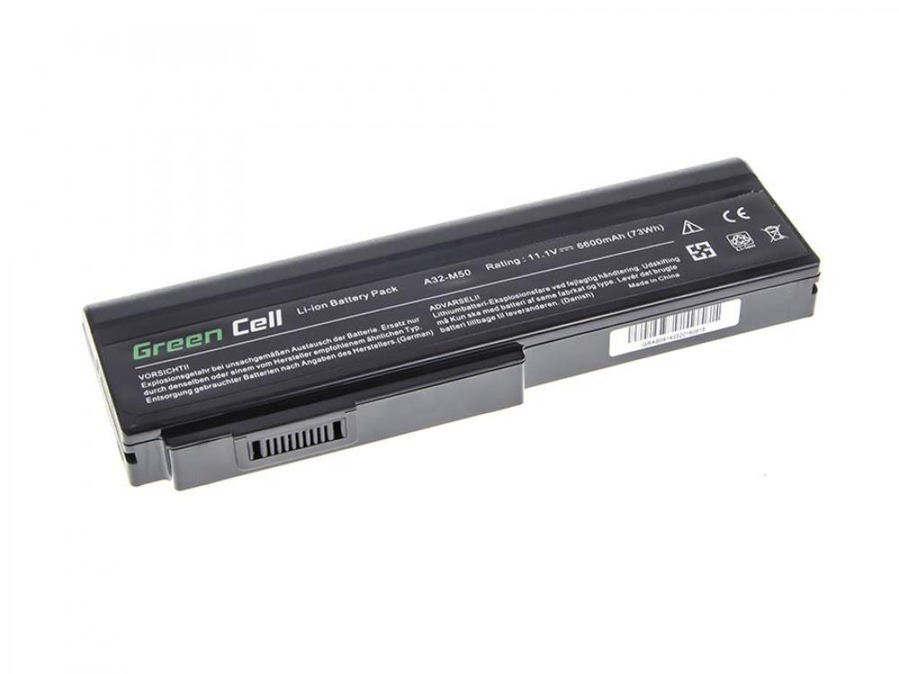 Green Cell for Asus N43 N53 G50 L50 M50 M60 A32-M50 10.8V 9 cell (AS09) akumulators, baterija portatīvajiem datoriem