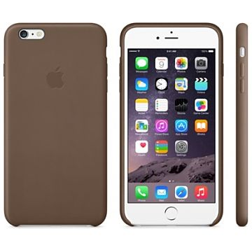 iPhone 6 Plus Leather Olive Brown aksesuārs