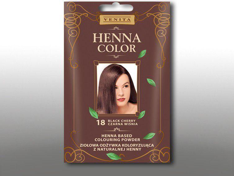 Venita Ziolowa odzywka koloryzujaca Henna Color 30g  18 Czarna Wisnia V1077