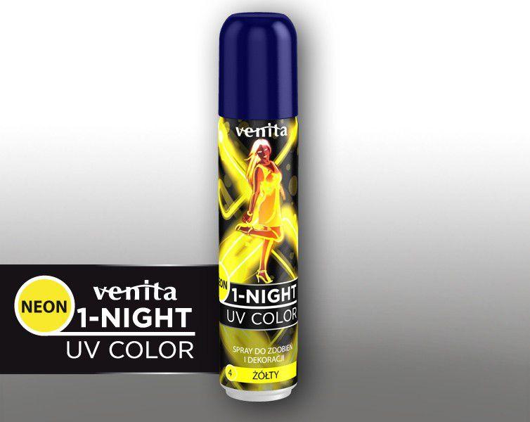 Venita 1-night spray neon nr 4 zolty V238
