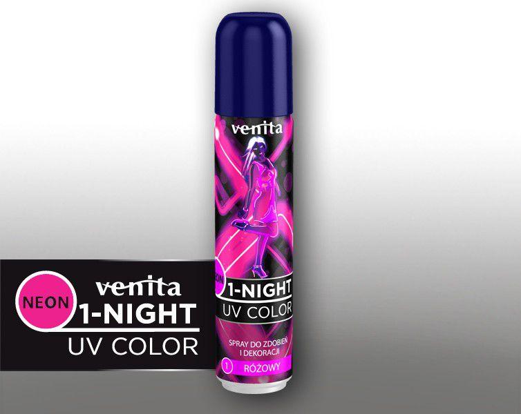 Venita 1-night spray neon nr 1 rozowy V235