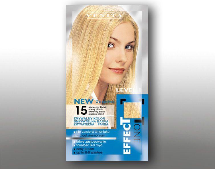 Venita Szamponetka EFFECT TONE 2x25 ml 15 Sloneczny blond V1050