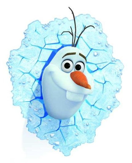 Philips Disney Frozen OLAF 3D LED Deco Sienas nakts gaisma + Stiprinājumi 718010816/I