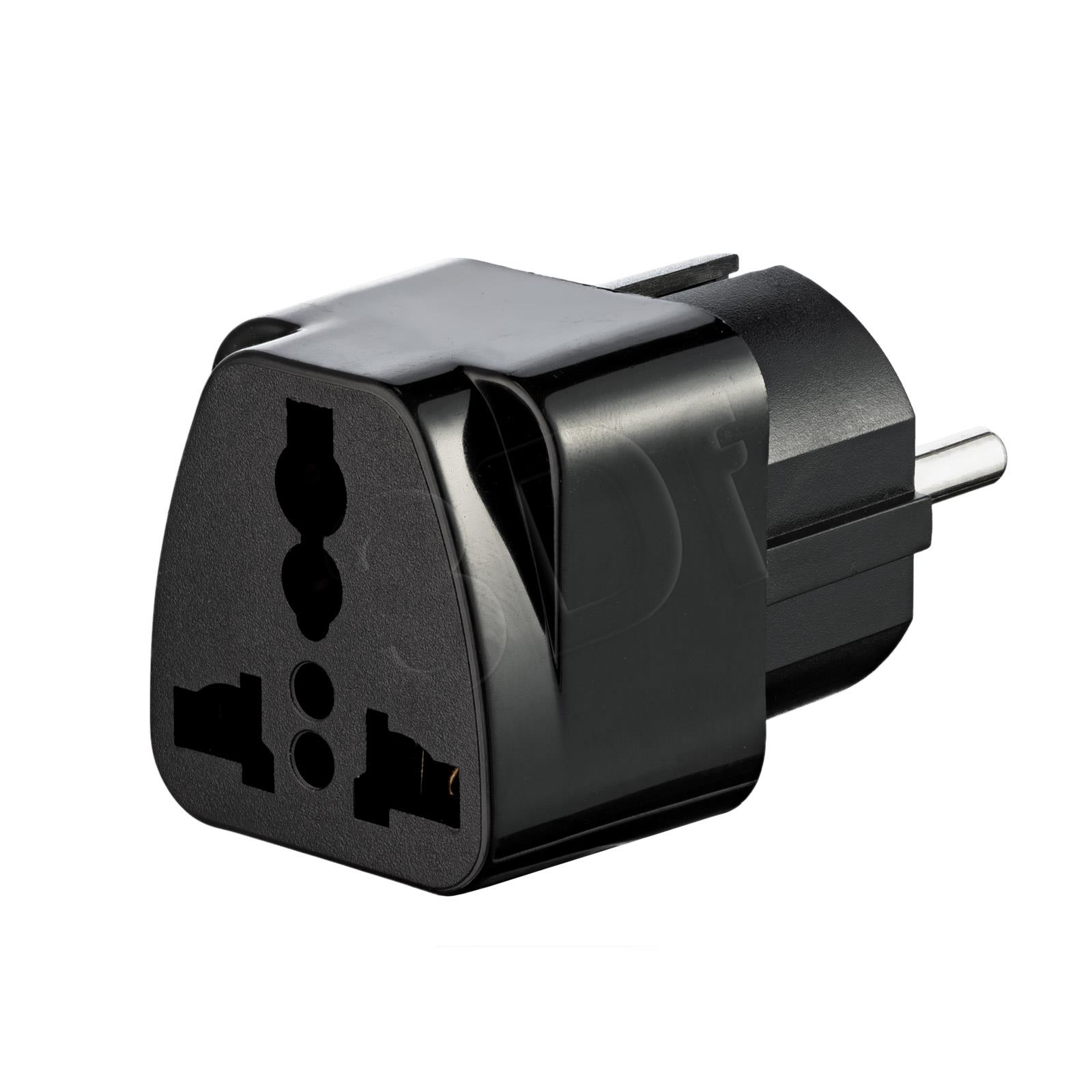 Akyga Travel Adapter AC AK-AD-48 US / AU / UK to EU black adapteris