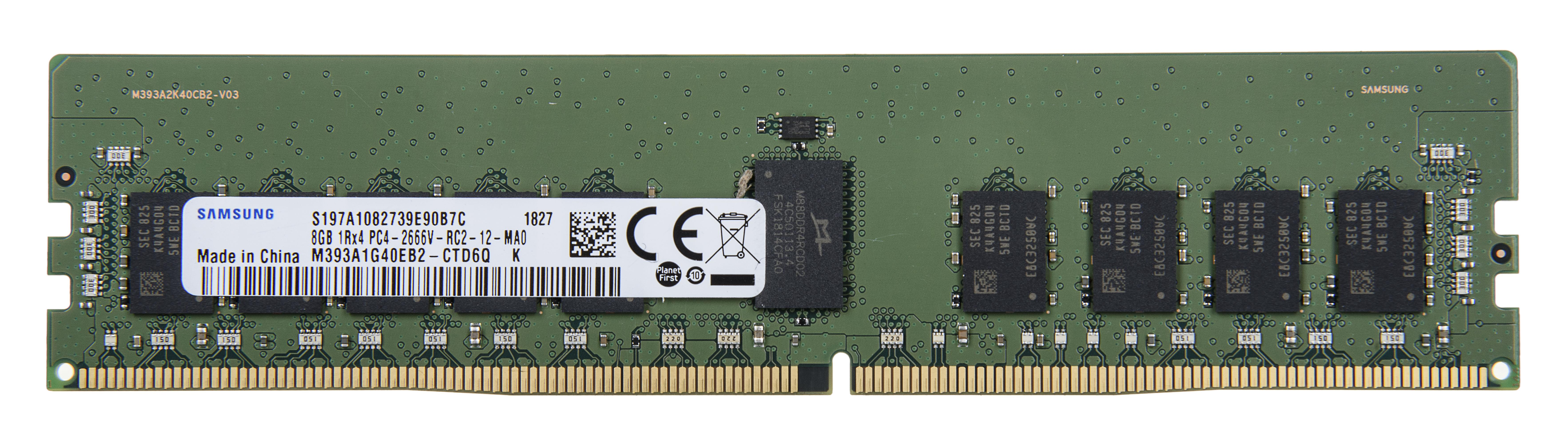 SAMSUNG 8GB DDR4-2666 RDIMM ECC Registered CL19 Single Rank