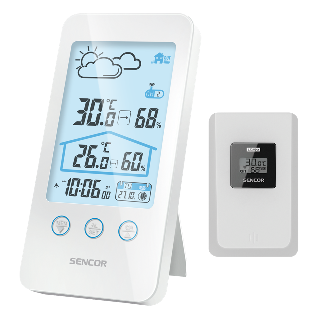 SENCOR SWS 3000 W Meteoroloģiskā stacija barometrs, termometrs