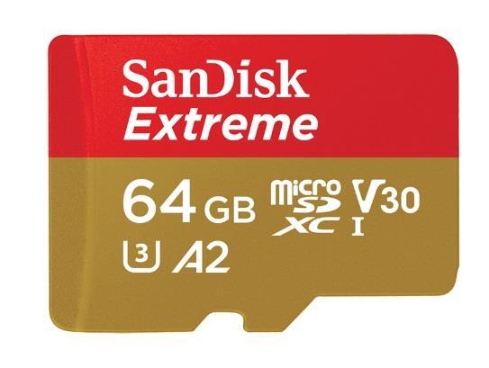 SanDisk microSDXC V30 A2    64GB Extreme 160MB SDSQXA2-064G-GN6MA atmiņas karte