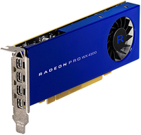 AMD Radeon Pro WX 4100, 4096 MB GDDR5, 4x mini DP - Low Profile video karte