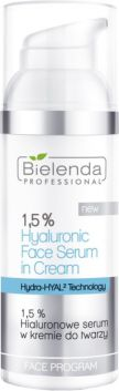 Bielenda Professional 1.5% Hyaluronic Face Serum In Cream (W) cream serum 50g kosmētika ķermenim