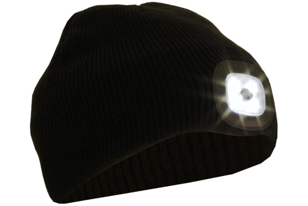 Cap with lighting LED, black, universal