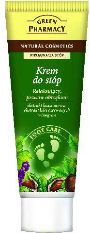Green Pharmacy Krem do stop relaksujacy przeciw obrzekom Kasztanowiec, Liscie czerwonych winogron 75ml 810766 Roku, pēdu kopšana