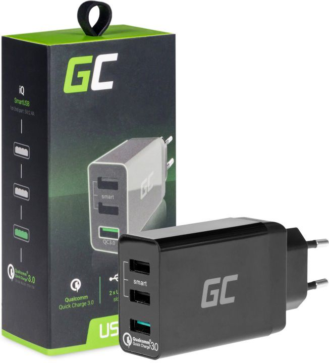 Green Cell USB Charger 3xUSB Quick Charge 3.0 iekārtas lādētājs